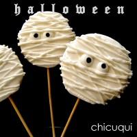 Galletas sin gluten decoradas: Momias tenebrosas, es Halloween!!!