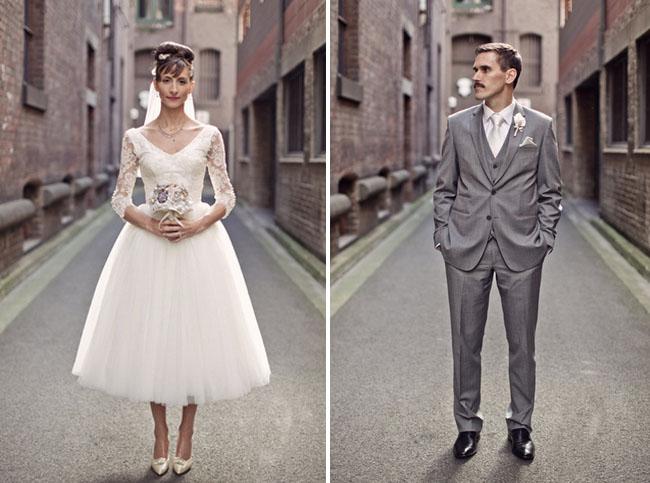 1950s Inspired Retro Australian Wedding : Chic Vintage Brides