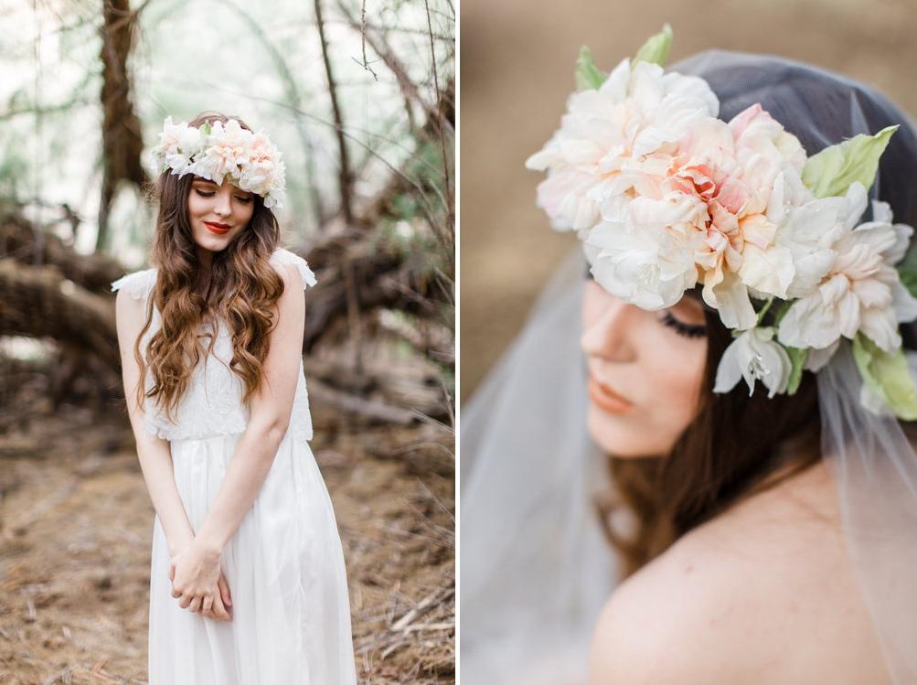 Beautiful Amp Boho Bridal Flower Crowns Chic Vintage Brides