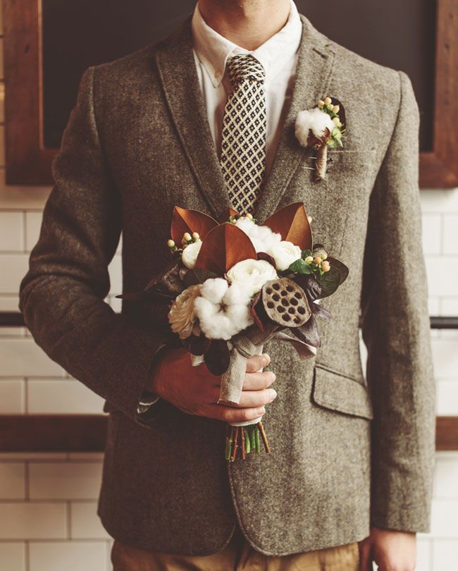 10 Ways to Style Your Groom Vintage - Tweed