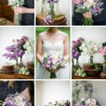 A Romantic Spring Bridal Bouquet In Purple Pink Chic Vintage Brides