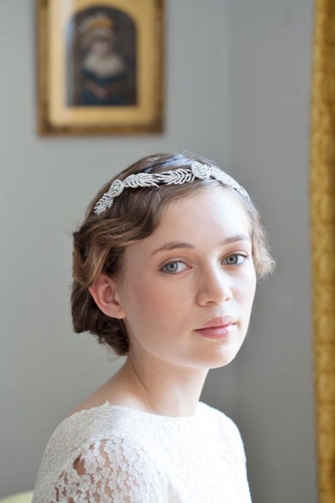 20 fabulous art deco bridal hair accessories : chic vintage