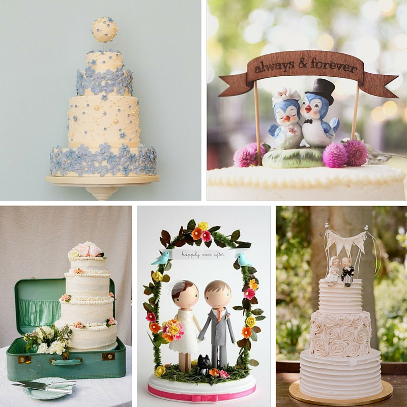 20 Delightful Wedding Cake Ideas For The 1950s Loving