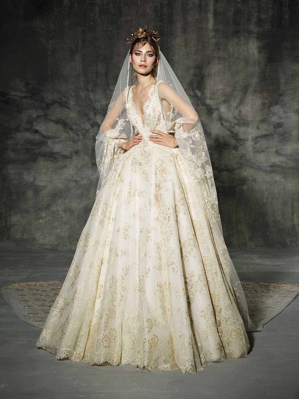 Yolan Cris Llunas Wedding Dress