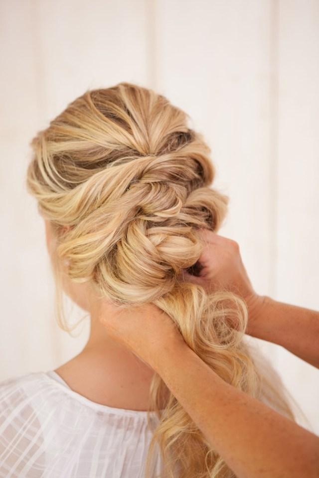 diy fancy french twist bridal updo - chic vintage brides