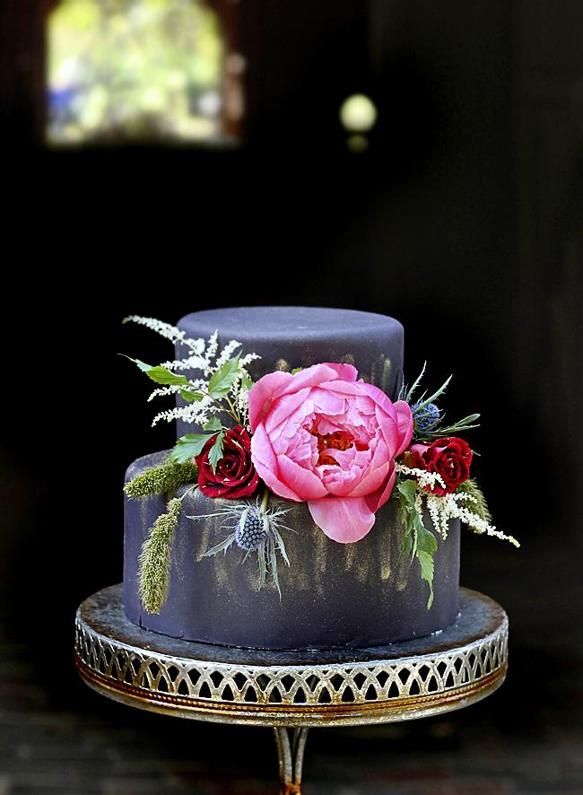 Matt Black Wedding Cake