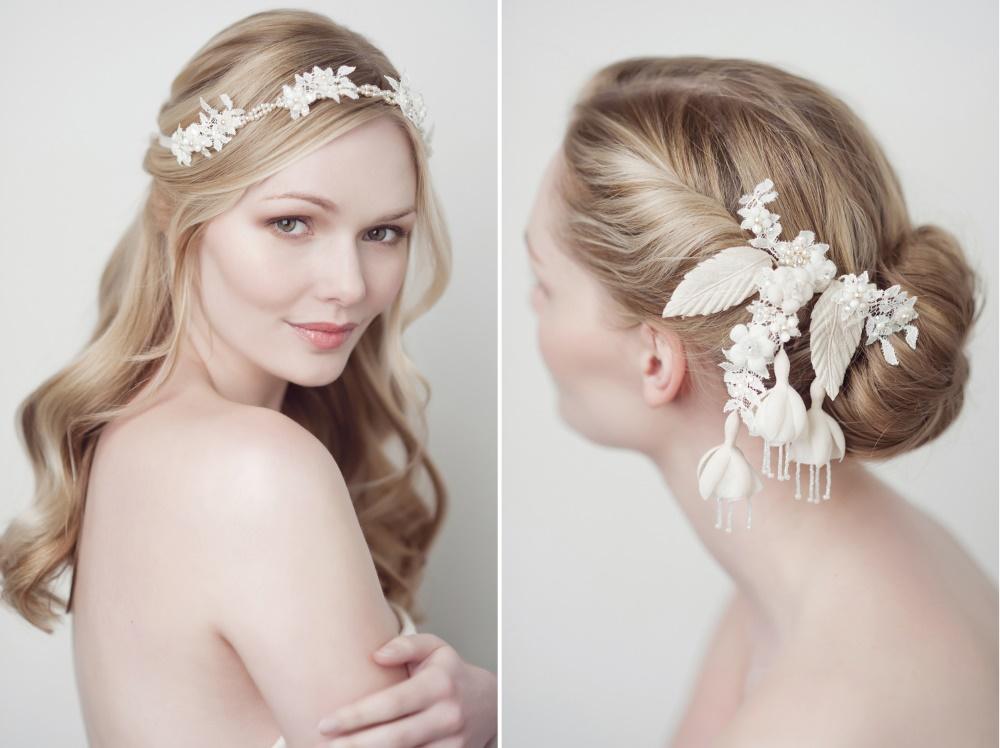 fiona hair ribbon eugenia bridal hair comb from yelena accessories