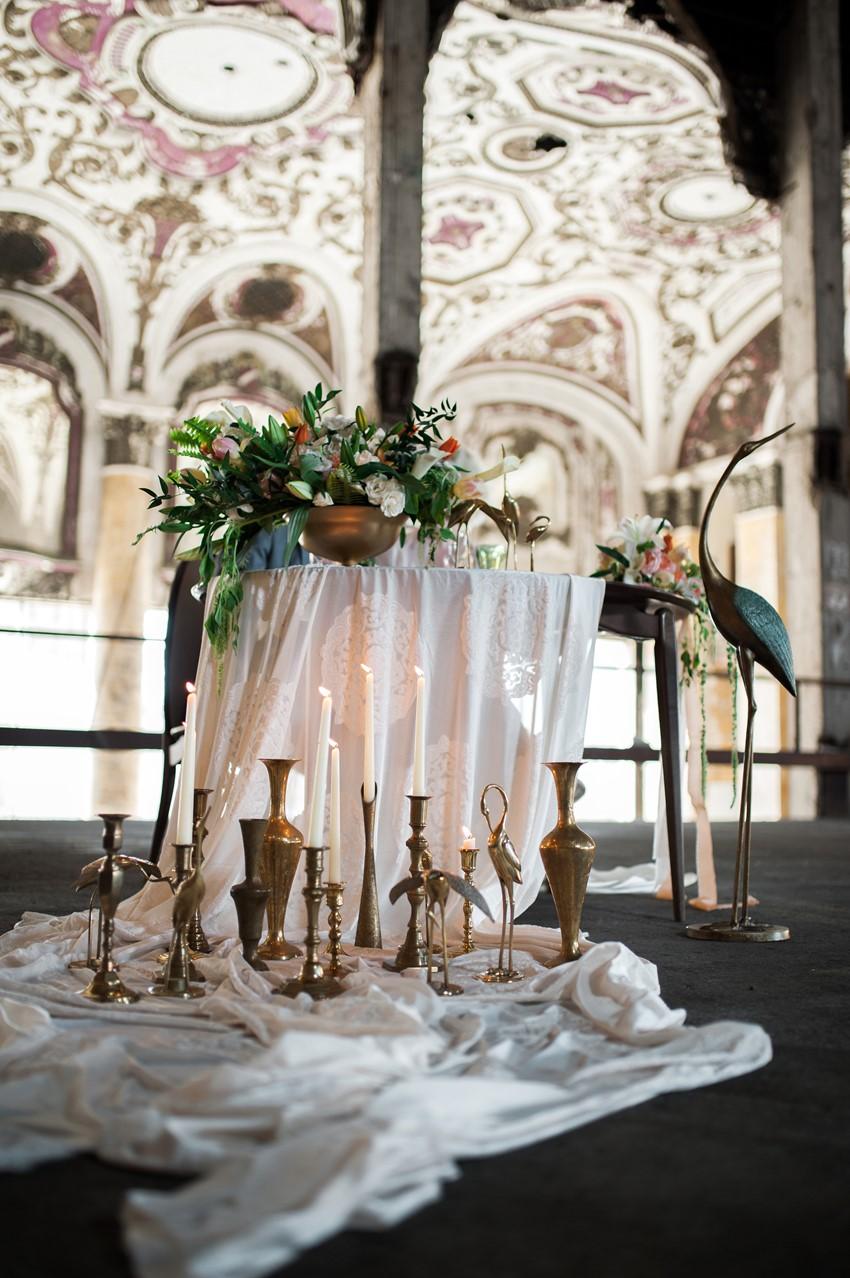 Art Nouveau Wedding Inspiration At The Old Michigan