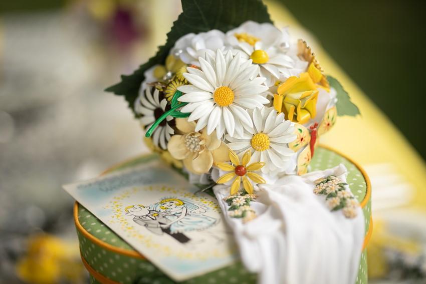 Vintage Daisy Non Floral Bridal Bouquet