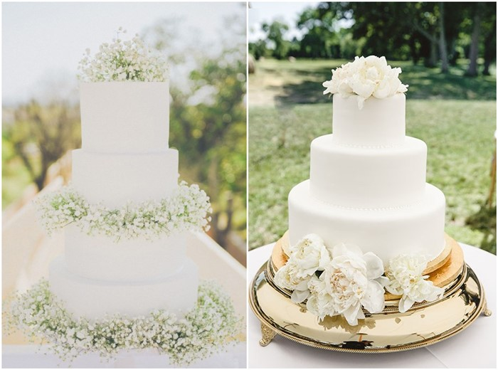 18 Simple White Wedding Cakes Ideas For Your 2019 Wedding