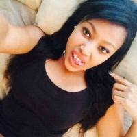 Beautiful South African Girl with Long Black Straight Brazilian Weave