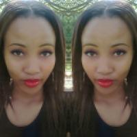 Light & Beautiful - South African Girl with Gorgeous Red Lipstick and Makeup