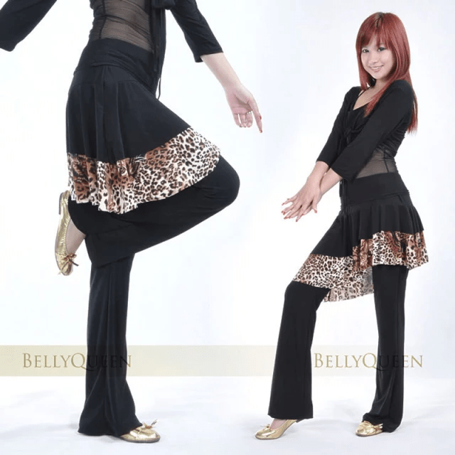 Belly Dance Skirt Pants with Sequins Long Pants with Wide Bottom