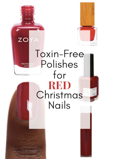 Toxin-Free Healthy Polishes for Red Holiday Nails • chidibeauty.com