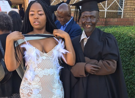 Girl Makes Her Dad Wear Her Convocation Gown For Sending Her To School Despite Being A Security Guard