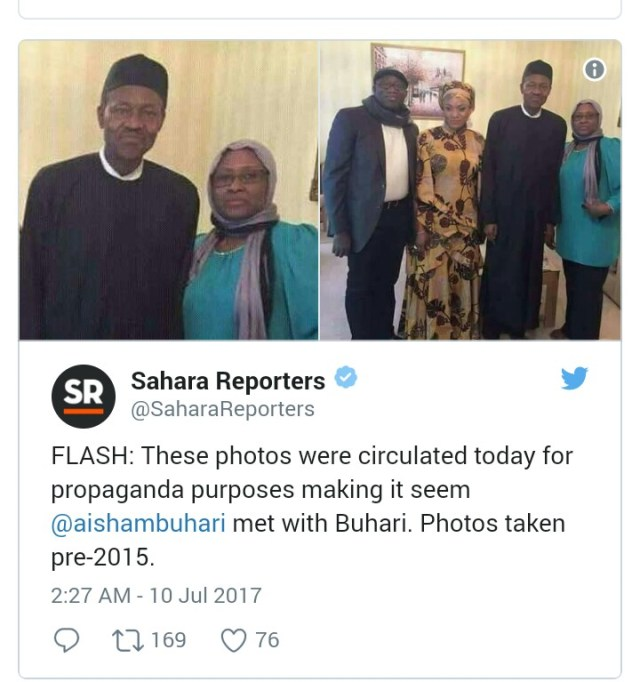 Aisha Buhari reportedly depressed over husband's health condition
