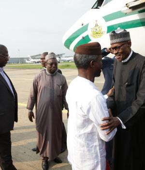 Buhari: Osinbajo, others celebrate President's return at Aso Villa Chapel