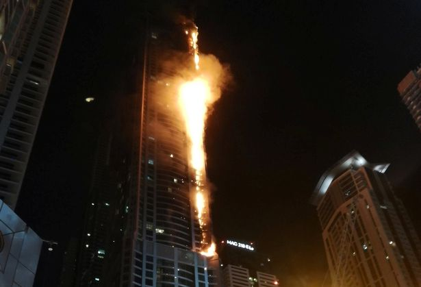 Dubai Marina Torch tower fire: Former tallest building in world engulfed in blaze for second time since 2015