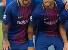 Lionel Messi bids emotional farewell to Neymar ahead of world record £196million move from Barcelona to PSG