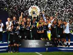 Real Madrid celerate UEFA super cup
