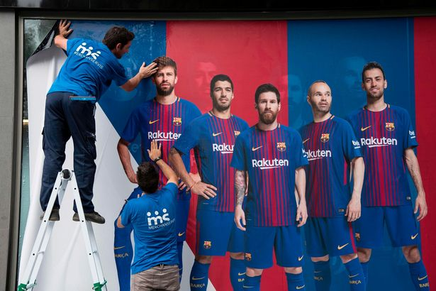 It was replaced by a new poster that did nit include Neymar (Image: AFP)