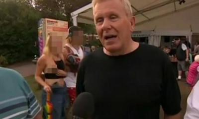 BBC mistakenly air footage of a lady exposing her breast8 in a live report 5