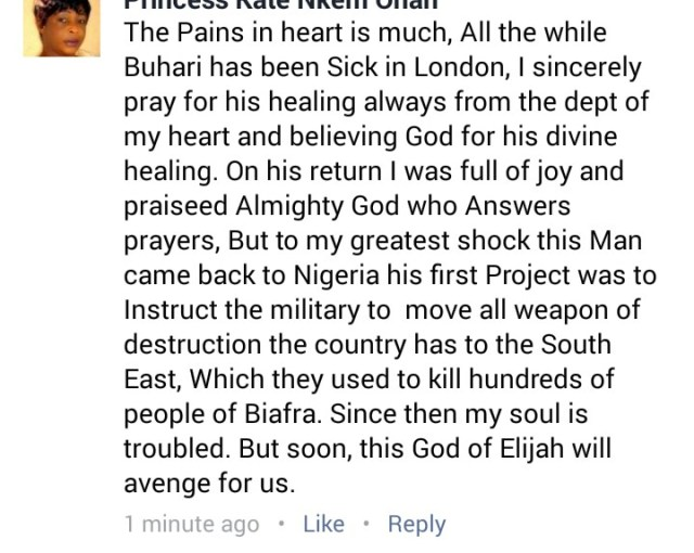 Trending: I prayed for Buhari when he was sick, yet he sent Soldiers to kill our people