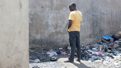 Lagos government arrest 5 person for urinating in public