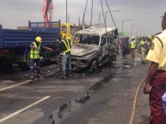 Fayose escapes death as mystery fire engulfs vehicle [PHOTOS]
