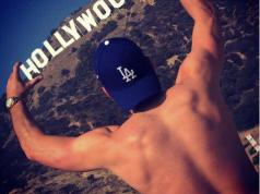 Mark Wright strips topless as he poses by the Hollywood sign [Photo]