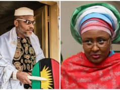 Nnamdi Kanu creating Biafra is a major setback for Nigeria - Buhari's wife