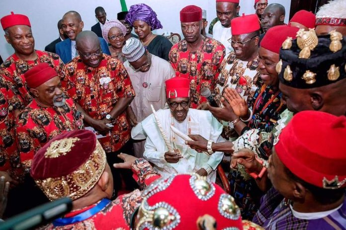 Photos of Buhari in Ebonyi state in 2 day working visit