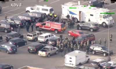 Gunman kills police officer and wounds others before being 'shot dead' by SWAT team in Douglas County, Colorado