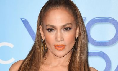 J-Lo was flaunting her legs in this thigh-skimming dress (Image: Splash News)