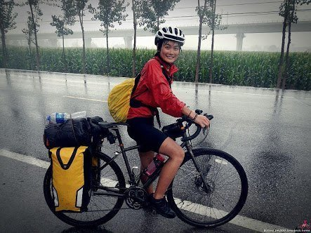 Hilarious! Chinese girl rides bicycle from Morocco to Lagos in 5 months