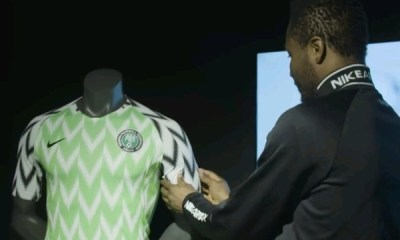 Mikel Obi, Others react to the Super Eagles new lucky-charm jersey
