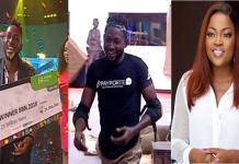 Nollywood Actress Funke Akindele reacts as Miracle wins BBNaija 2018