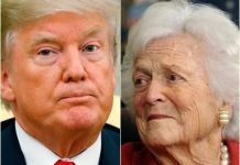 Attacks as President Trump mourns Barbara Bush