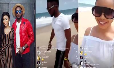 BBNaija: See what happened when Miracle & Nina came back, spotted at the beach (Video)