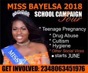Miss Bayelsa 2018 Queen Freda Fred School Campaign Tour