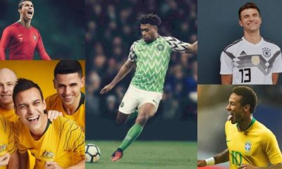 Nigeria's World Cup Jersey Voted Best Among 32 Countries In The Tournament