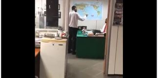 Watch viral video of an employee comanding his boss with spiritual powers