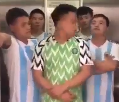 chinese, Hilarious video of Chinese men mocking Super Eagles after their defeat by Argentina team(Video)