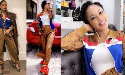 BBNaija Nina Ivy challenges Rihanna as she slays on similar outfit (Photos)