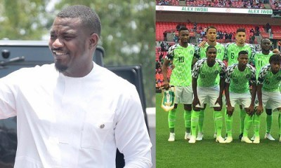 John Dumelo shades the hell out of Super Eagles after losing to Croatia, Nigerians React