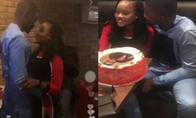 Cee-c and Leo share some romantic moment at his birthday dinner (Watch Video)