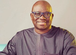Fayose makes first public appearance after been held for 72 hours