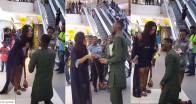 Nigerian man proposes to his girlfriend in public and receives dirty slap (Video)