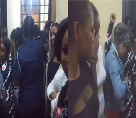 Aw!!! 41 Nigerian prostitutes arrested by Police in Ghana - Watch Video