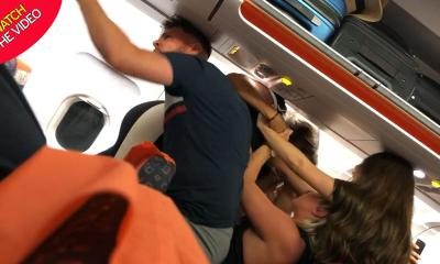 Easyjet passengers in extraordinary mass brawl 'after woman gets breasts out' and starts 'giving lapdances'
